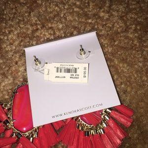 Kendra Scott Jewelry - Kendra Scott red Cristina tassel earrings